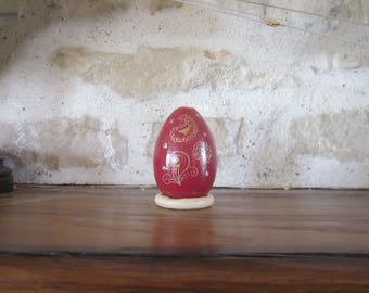 Collectible wooden egg