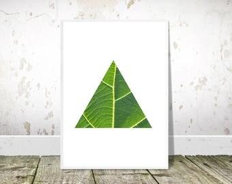 Leaf Art Print, Scandinavian Print, PRINTABLE Art, Minimalist Art, Geometric Print, Scandinavian Poster, Home Decor,Wall Art,Botanical Print