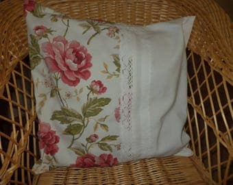 Old linen with lace pillow