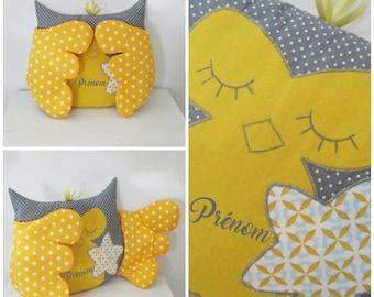 Pillow toy OWL / OWL Hello baby! CUSTOMIZABLE