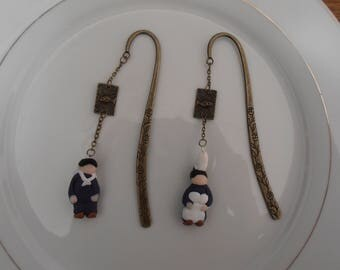 2 bookmarks with Breton characters metal