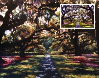 Custom Landscape, Garden, Custom Art, Custom Painting