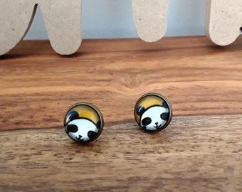 """Panda"" Stud Earrings"