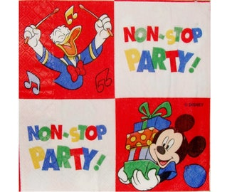 Set of 3 napkins ENF006 Mickey and Donald