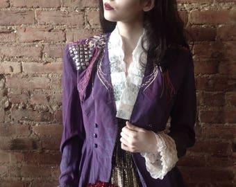 Vintage Turned DIY Hand Dyed Purple Rain Prince Jacket