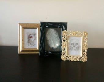 Gothic frames, set of 3 gothic baroque frames, triptych frames
