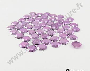 Thermo - purple clear - dome 6mm - 50 x