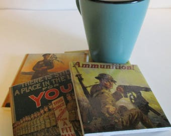 World War Military Propaganda Coasters International Edition
