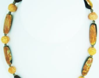Coral & Agate necklace