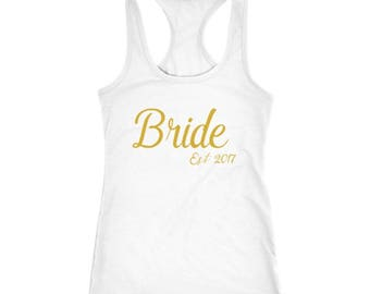 Bride Tank Top, Bride To Be Tank, Bride Gift, Bridesmaid Shirt, Bachelorette Shirt, Bridal Shower Gift, Gift for Bride, Racerback Tank Top