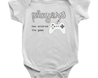 Player 3 Has Entered The Game One Piece Body Suit, Video Game Baby Onesie, Funny Baby Gamer Onesie, Gift for Gamers, Baby Shower Gift
