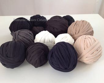 Set A 39 Trapilho 700g to 1000g multicolor yarn