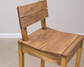 Wood Pub chair bar stool sold stained you choose your color handcrafted in my own woodshop