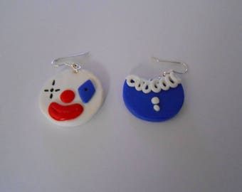 earring carnival clown head