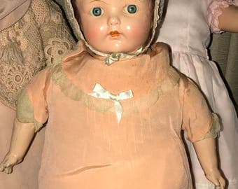 Antique 100-Yr Old Ideal Composition Mama Doll All Original 23""