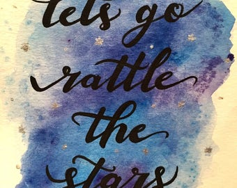 Let's Go Rattle the Stars Throne of Class Watercolor Miniprint