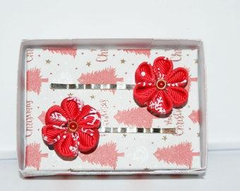 Kanzashi - Clips flat + giftbox - Collection Christmas 2017