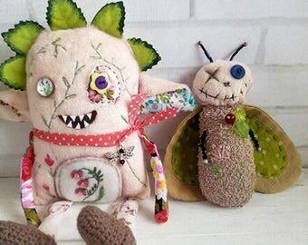 Garden monster plush toy
