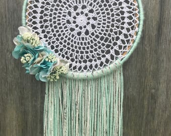Mint Dream Catcher - Dreamcatcher - Dream Catcher - Boho Dreamcatcher - Nursery Dream Catcher - Boho Wedding