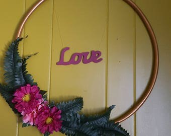 Floral Love Wall Hanging