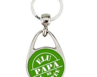 """""""one year Dad"""" keychain"""