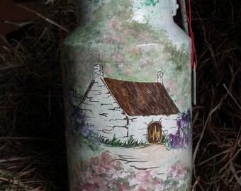 vintage - retro milk canister - wallpaper - cottage