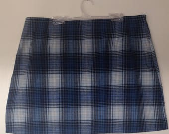 90's Plaid Mini Skirt