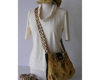 BAG * Celtic * ocher color shoulder bag