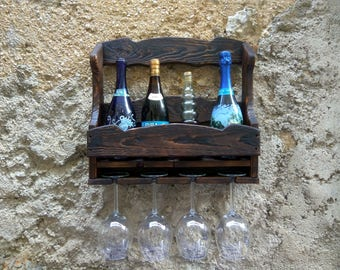 Wine cellar and wall cup holder