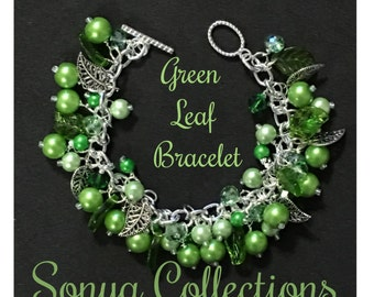 Green Leaf Bead Bracelet