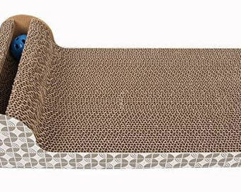 Cat chaise lounge with ball toy