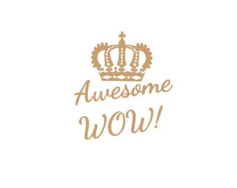 Grand Opening SALE!! Hamilton Awesome WOW! decal