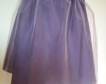 Violet circul skirt  wrapped in powdered tulle
