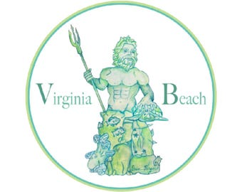 Virginia Beach King Neptune Sticker