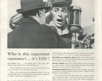 1936 TEXACO FIRE-CHIEF - Vintage Ad - Gas - Gasoline - Gas Station - Car - Fuel - 1930s - Retro - Wall Deccor