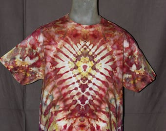 Handmade Ice Tie-Dyed T-Shirt: Large