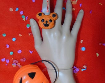 Mr.Pumpkin Bear Ring