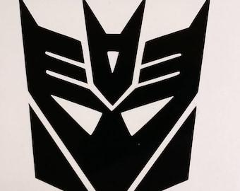 Transformers Decepticon Vinyl Decal