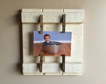 Handmade Farmhouse Picture Holder