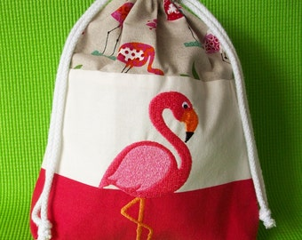 Flamingo Drawstring Toiletry Bag