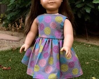 18 Inch Doll Clothes, AG Doll Dress, Handmade Summer Dress for American Girl Doll