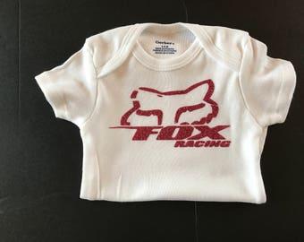 Baby Girl Fox Racing Onesie