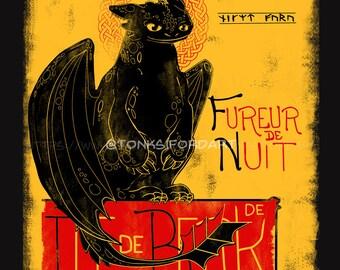 Fury of the Night by Tonksiford - Vintage Feel Tee