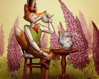 Fox, Foxgloves, and Tea