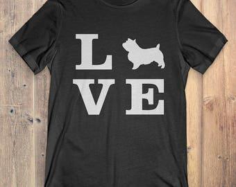 Norwich Terrier Dog T-Shirt Gift: I Love Norwich Terrier