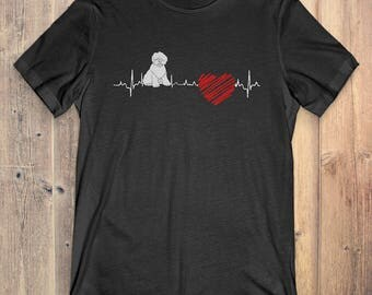 Old English Sheepdog Dog T-Shirt Gift: Old English Sheepdog Heartbeat