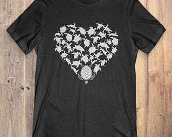 Turtle T-Shirt Gift: Heart Turtle