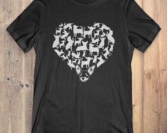 Chihuahua T-Shirt Gift: Heart Chihuahua