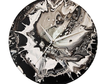Wall Clock, Abstract Clock, Modern Clock, Acrylic, Vinyl Record, Handmade, Original, Gift