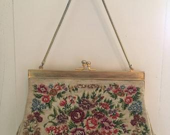 Vintage petit-point handmade bag